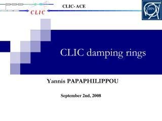CLIC damping rings
