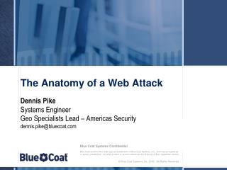 The Anatomy of a Web Attack