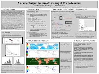 A new technique for remote sensing of Trichodesmium