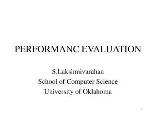 PERFORMANC EVALUATION