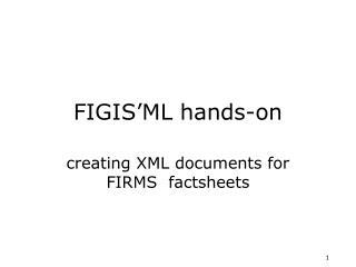 FIGIS'ML hands-on