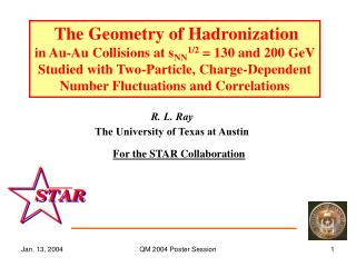 The Geometry of Hadronization in Au-Au Collisions at s NN 1/2  = 130 and 200 GeV