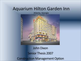 Aquarium Hilton Garden Inn Atlanta, Georgia