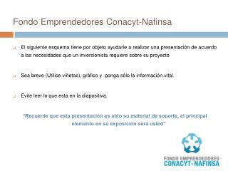 Fondo Emprendedores Conacyt- Nafinsa