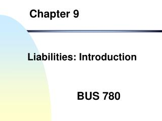 Liabilities: Introduction
