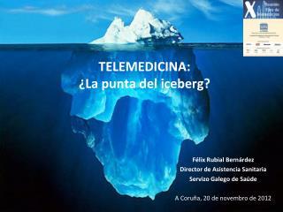 TELEMEDICINA:  ¿La punta del iceberg?