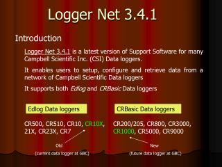 Logger Net 3.4.1