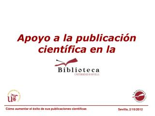 Apoyo a la publicación científica en la