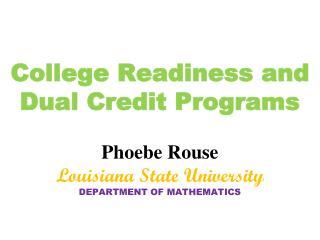 Precalculus Redesign Program Goals and Keys
