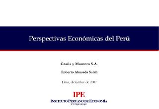 Perspectivas Económicas del Perú