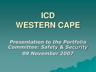 ICD  WESTERN CAPE