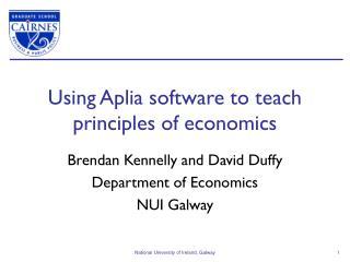 Using Aplia software to teach principles of economics