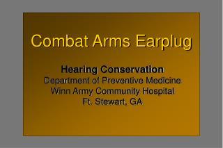 Combat Arms Earplug