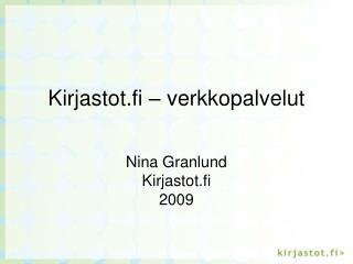 Kirjastot.fi – verkkopalvelut