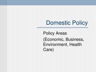 Domestic Policy