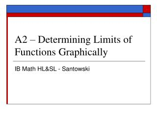 A2   Determining Limits of Functions Graphically
