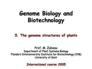 Genome Biology and Biotechnology