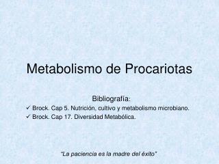 Metabolismo de Procariotas