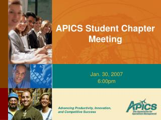 APICS Student Chapter Meeting