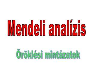 Mendeli analízis