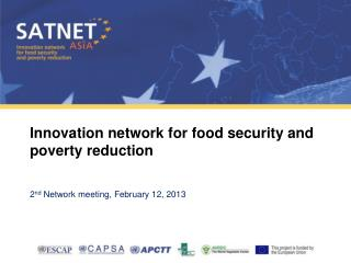 Innovation network for food security and poverty reduction