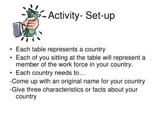 Activity- Set-up
