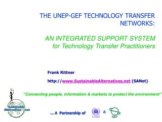 Frank Rittner  SustainableAlternatives  (SANet)