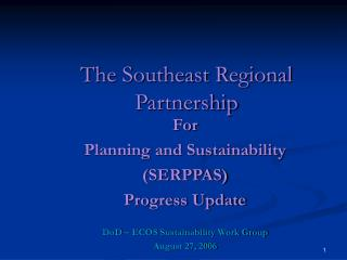 The Southeast Regional Partnership