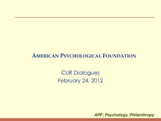 American Psychological Foundation
