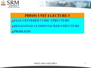 PH0101 UNIT 4 LECTURE 5
