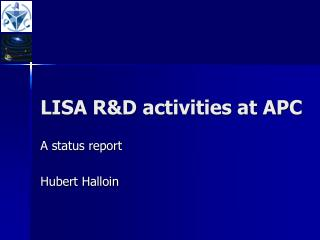 LISA R&D activities at APC