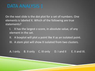 Data Analysis 1