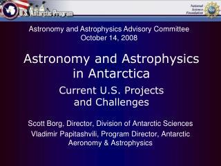 Scott Borg, Director, Division of Antarctic Sciences