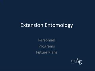 Extension Entomology