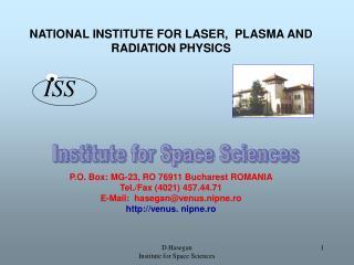 Institute for Space Sciences