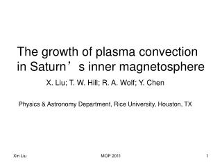 The growth of plasma convection in Saturn ' s inner magnetosphere