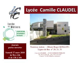 Lyc e  Camille CLAUDEL