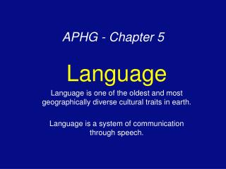 APHG - Chapter 5