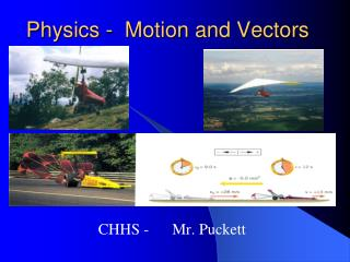 Physics -  Motion and Vectors