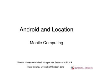 Android and Location