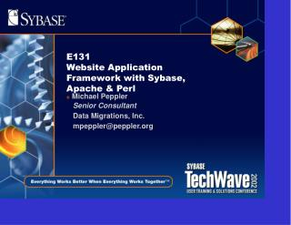 E131  Website Application Framework with Sybase, Apache & Perl
