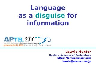 Lawrie Hunter Kochi University of Technology lawriehunter