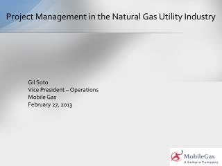 Project Management in the Natural Gas Utility Industry