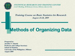 Methods of Organizing Data