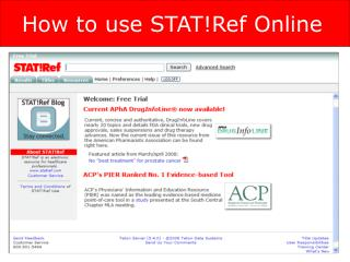 How to use STAT!Ref Online