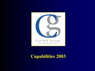 Capabilities 2003