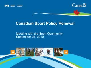 Canadian Sport Policy Renewal