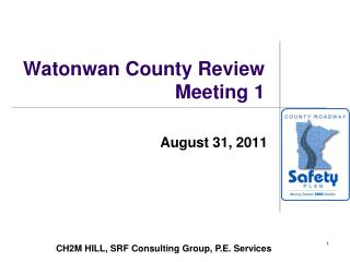 Watonwan County Review Meeting 1