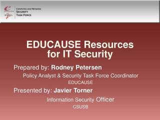EDUCAUSE Resources for IT Security