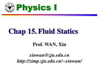 Chap 15.Fluid Statics